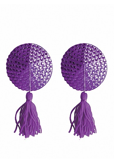 SO SH-OU030-PUR NIPPLE TASSELS - ROUND – PURPLE