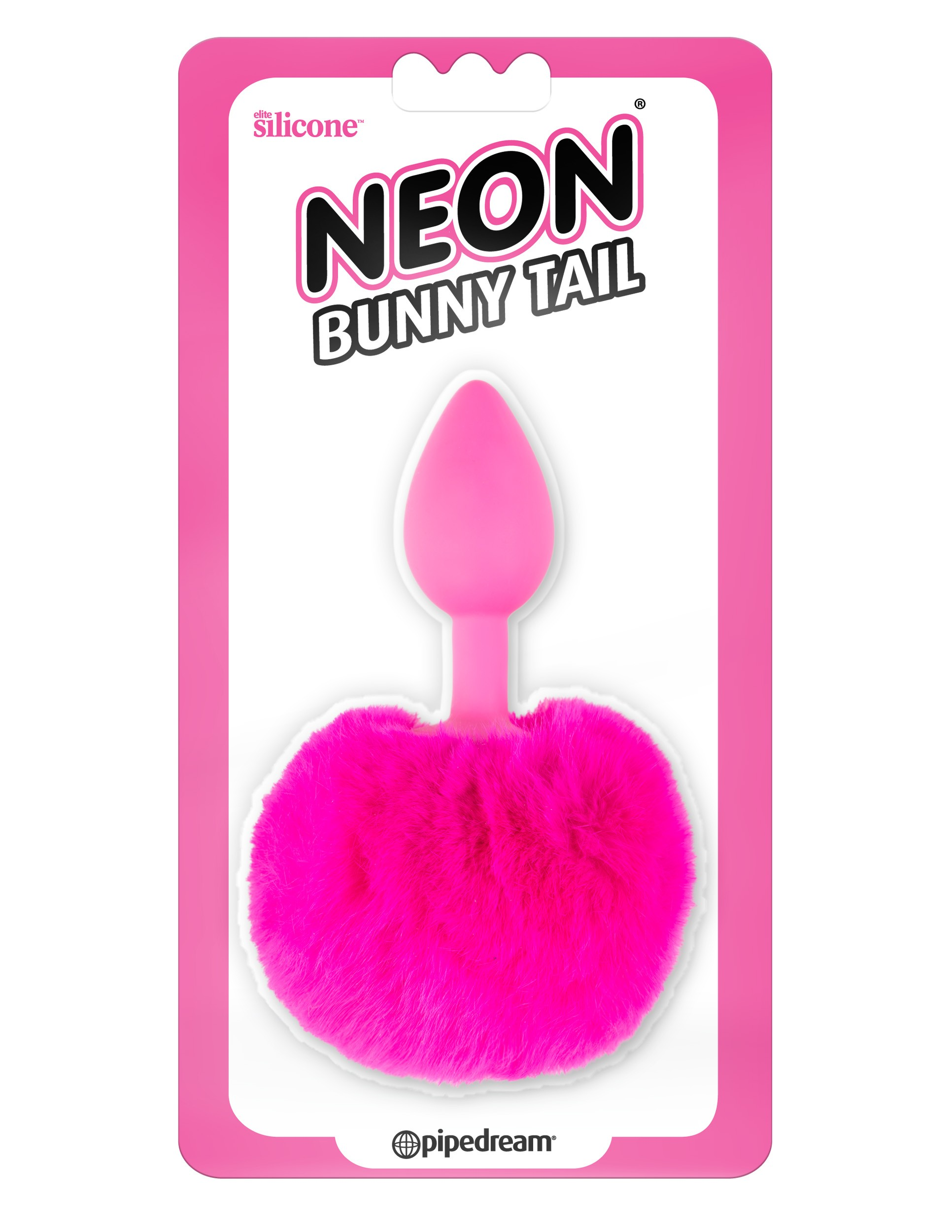 NEON BUNNY TAIL - PINK