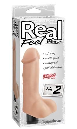 REAL FEEL -VIB SILICONA 2 ESCROTO PIEL