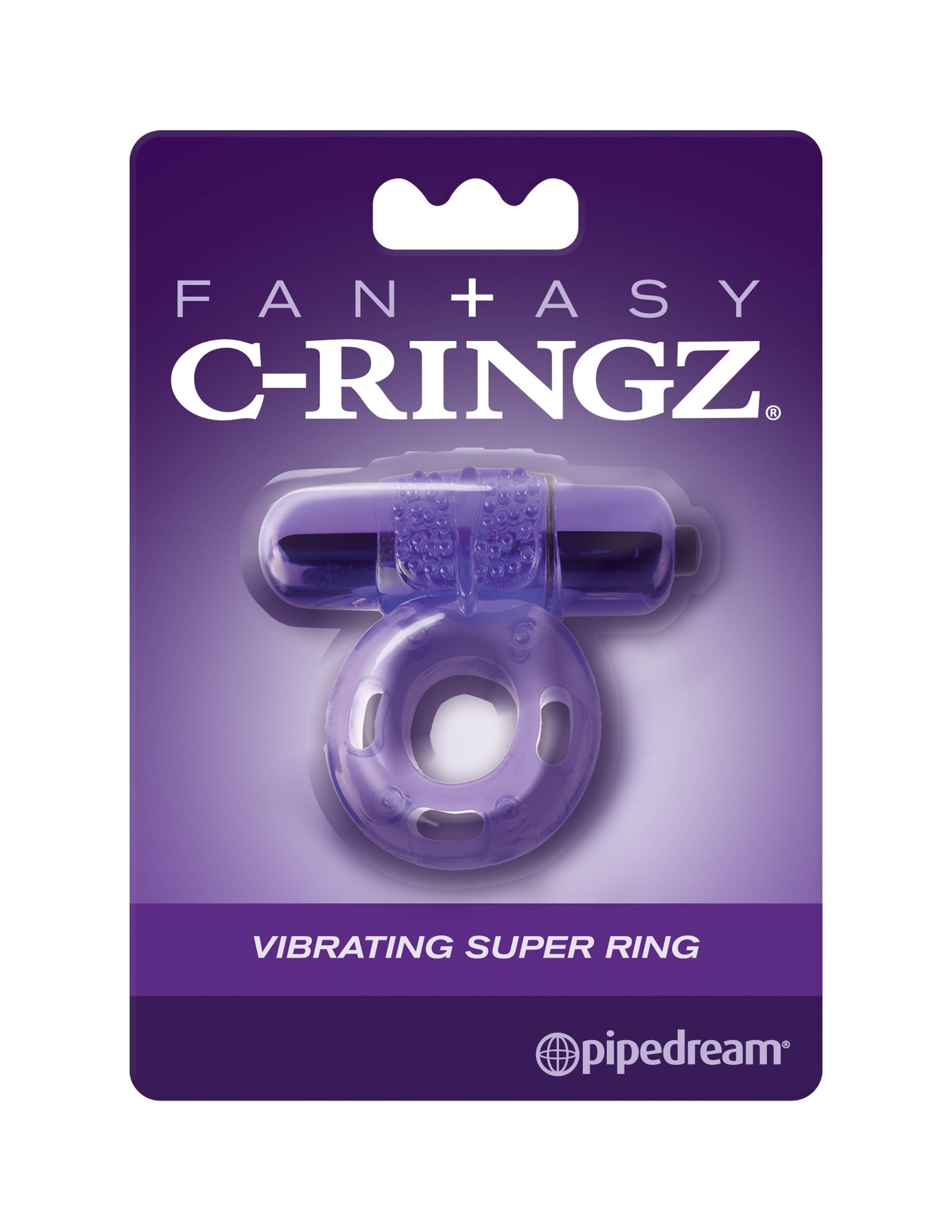Super anillo vibrante de fantasía C-Ringz